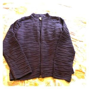 Cold water Creek full zip sweater